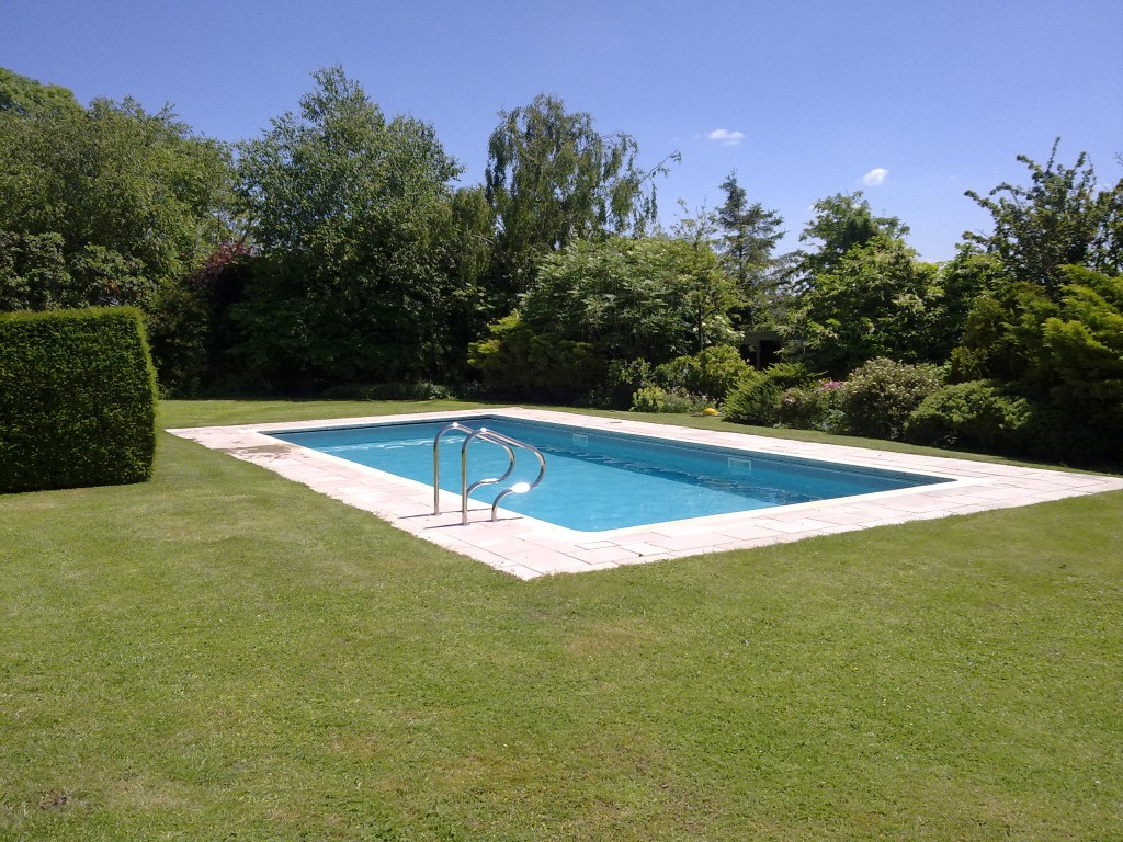 built in outdoor pool in garden 4