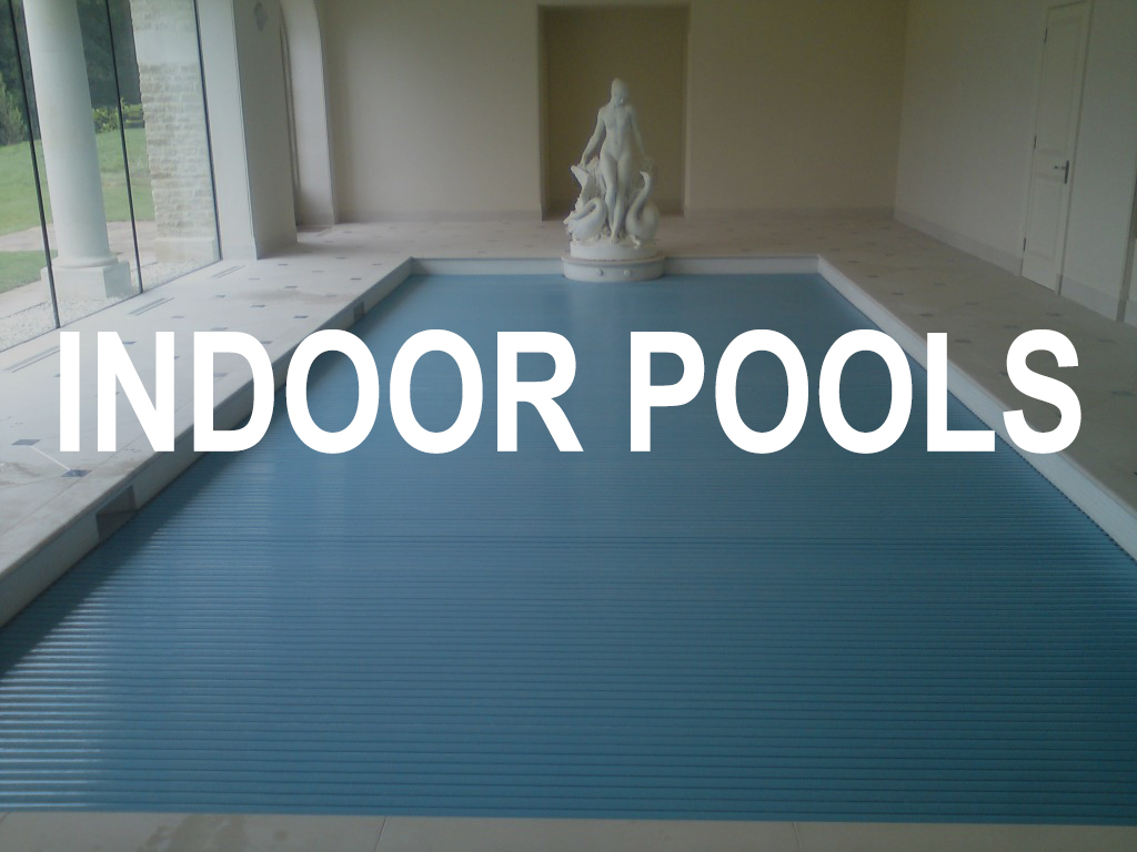 Indoor pool with cover over