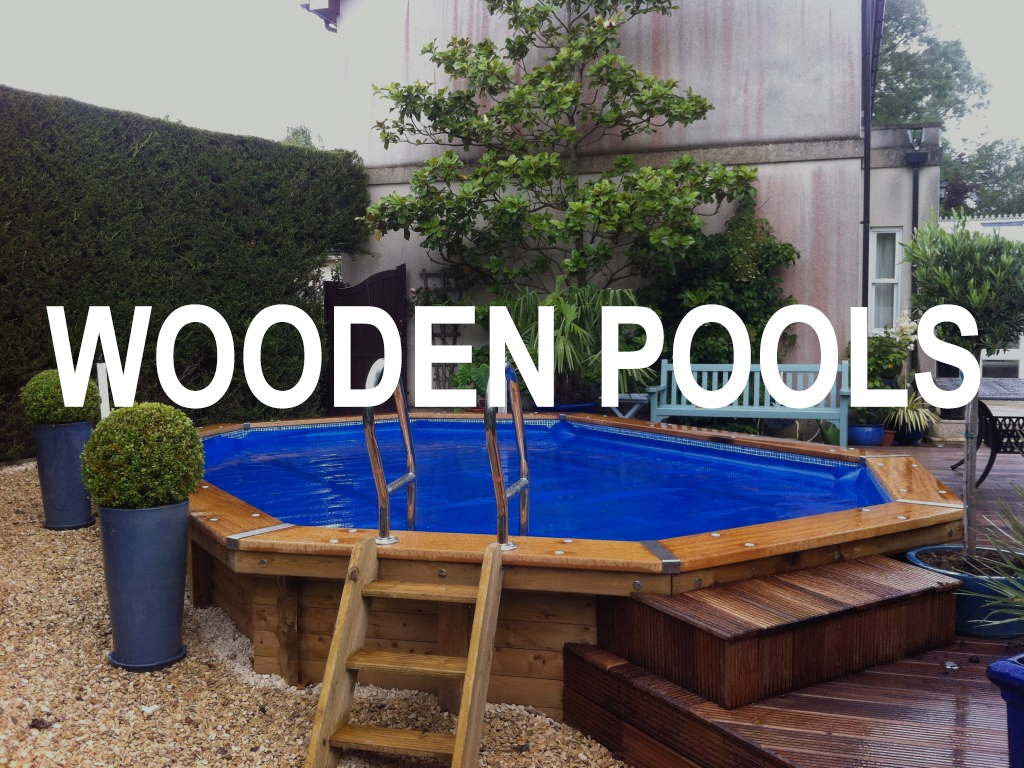Octagonal wooden pool by decking