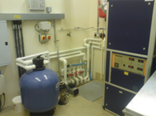 Pool filtration system room