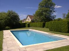 built in outdoor pool in garden 6