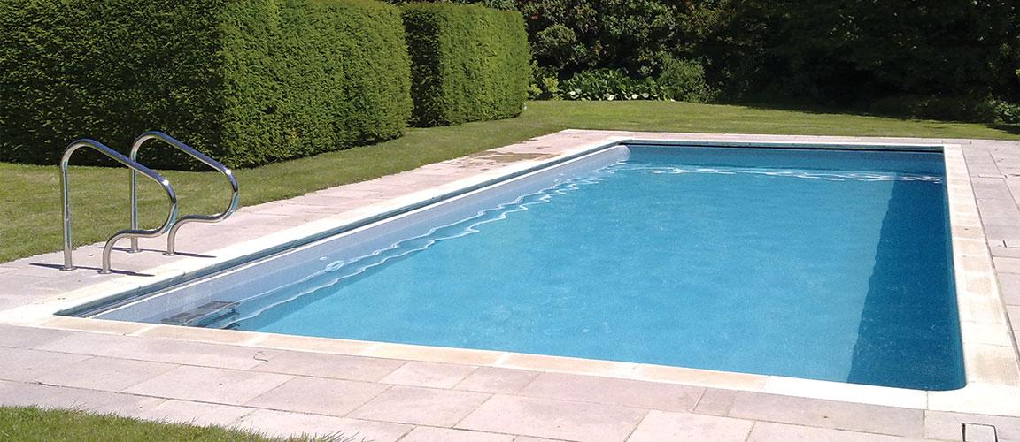 built in outdoor pool in garden