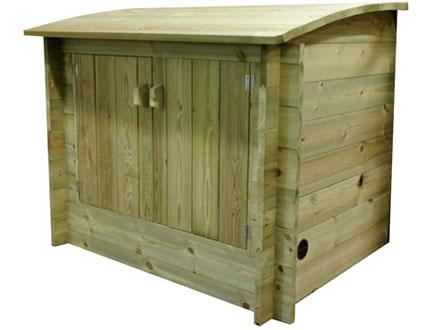 Wooden filtration enclosure