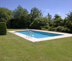 built in outdoor pool in garden 4