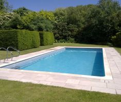 built in outdoor pool in garden 3