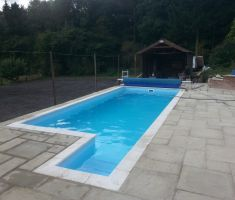 Filling up small outdoor pool