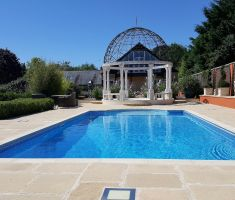 Outdoor rectangle swimming pool