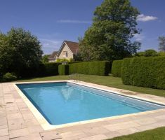 built in outdoor pool in garden 2