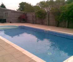 outdoor garden pool with steps 2
