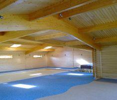 Start of indoor pool construction